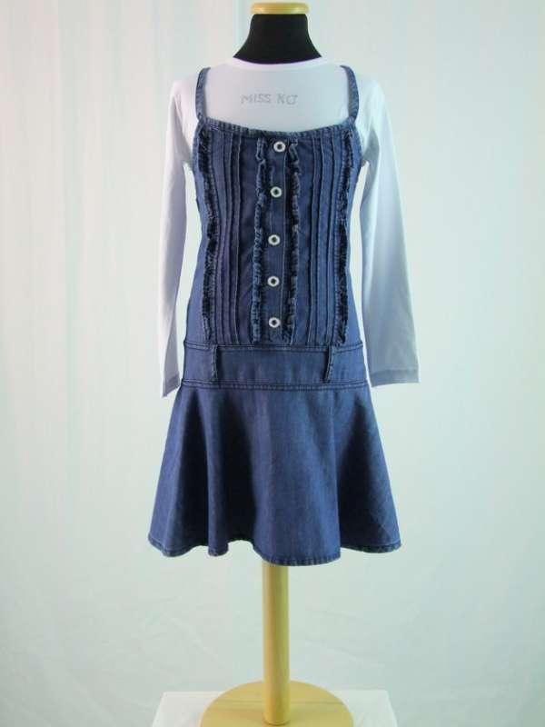 Платье-двойка с длинным рукавом.